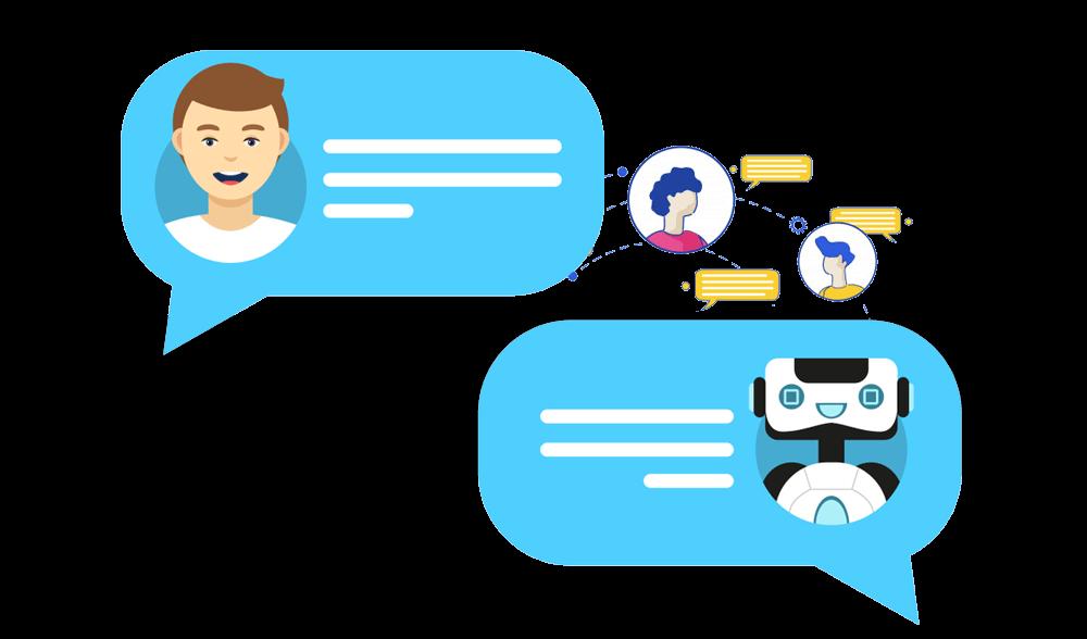 شات تلقائي مبني على الذكاء الاصطناعي للتواصل مع العملاء على مدار 24 ساعة بأكثر من طريقة وعرض الخدمات دون اى تدخل بشري